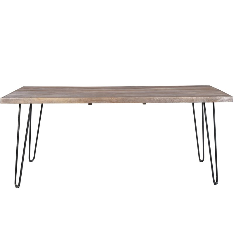 Portland Wash Mango Wood Dining Table. Wrought Iron Kitchen   Dining Tables You ll Love   Wayfair