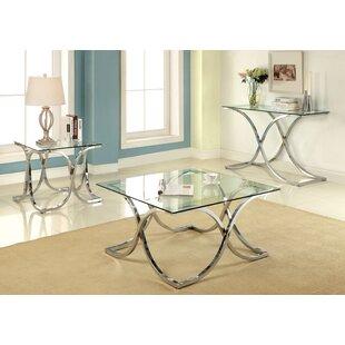 House of Hampton Malvern 3 Piece Coffee Table Set