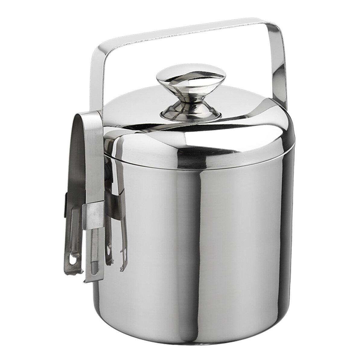 Charlton Home Rickert 1 5 Qt Ice Bucket With Tong Reviews Wayfair