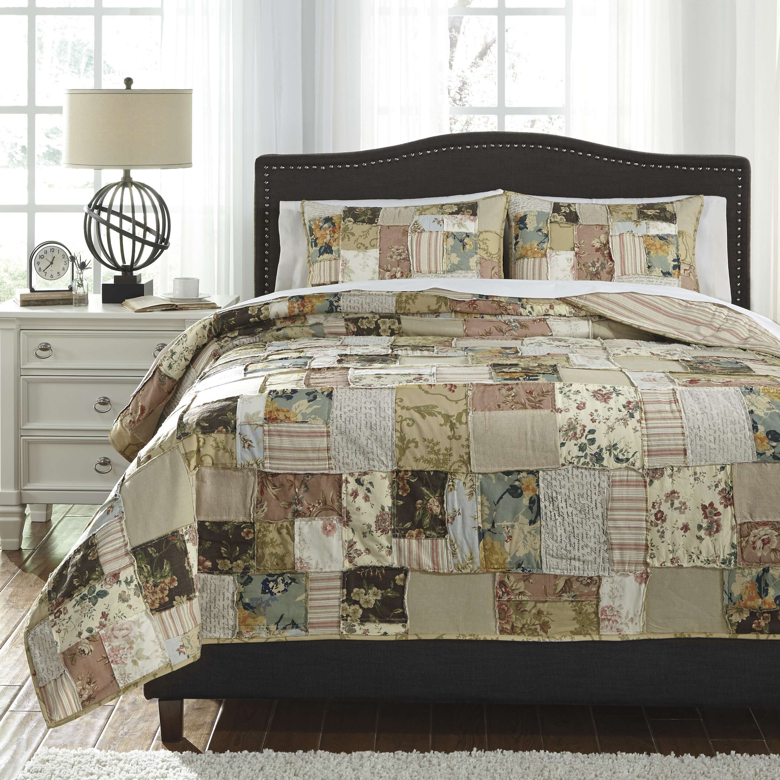 august grove yucca 3 piece quilt set | wayfair