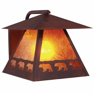 Inexpensive Band of Bears 1-Light Outdoor Wall Lantern By Steel Partners
