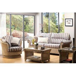 Best Price Cynthia 4 Piece Conservatory Sofa Set