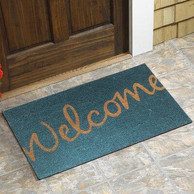 carron welcome script doormat