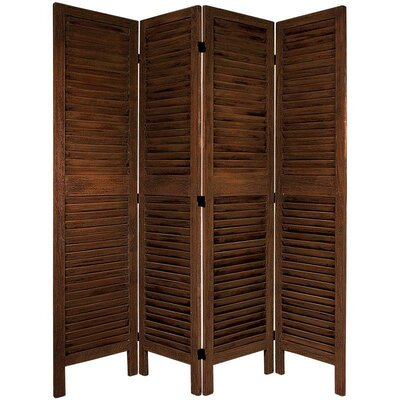Jeanpierre Room Divider Color: Burnt Brown, Number of Panels: 3 by August Grove
