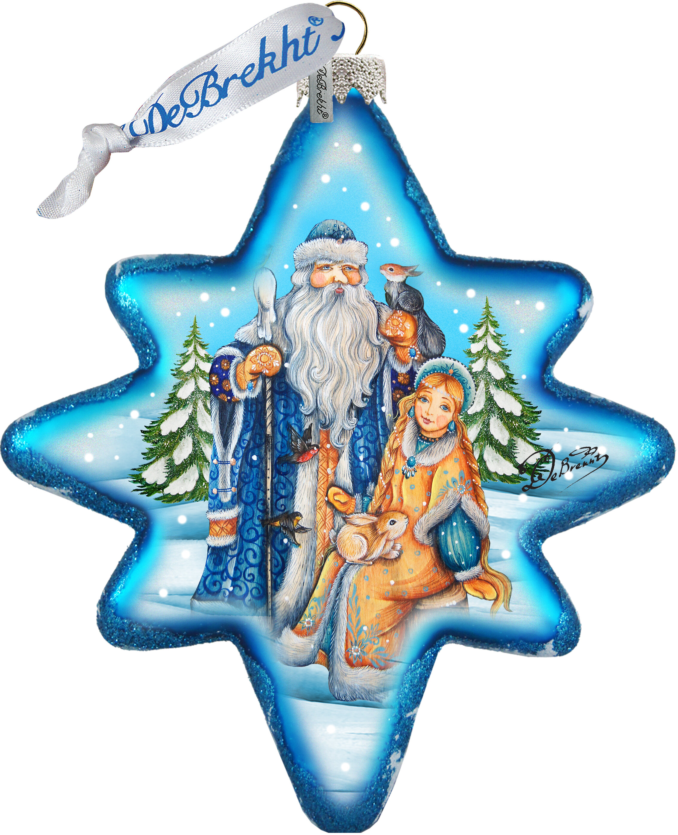 The Holiday Aisle Father Frost And Snow Maiden North Star Shaped Ornament Holiday Splendor Collection Wayfair