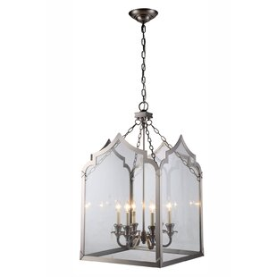 Gracie Oaks Boonton 6-Light Foyer Lantern Pendant