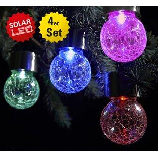 4 Piece Ondina LED Outdoor Decorative Lantern Set (Set Of 4) Image