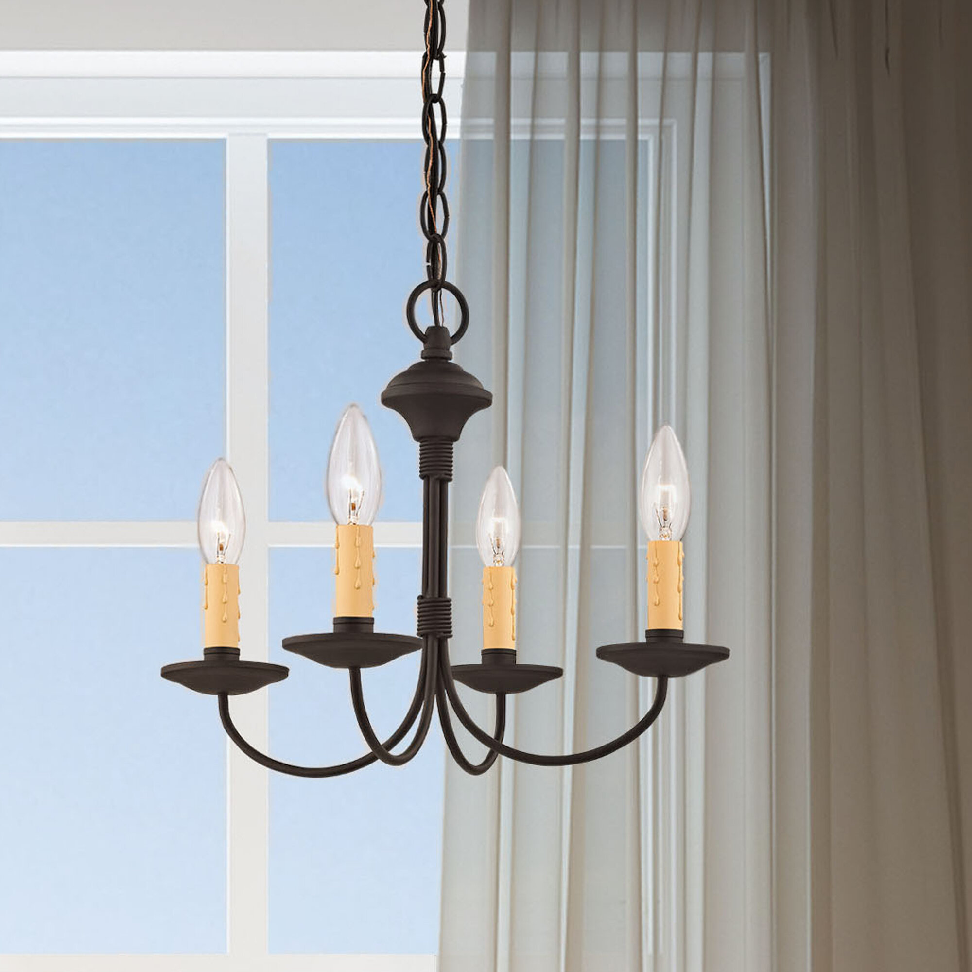 Darby Home Co Eberhart 4 Light Candle Style Classic Traditional Chandelier Wayfair