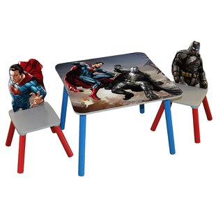 Batman v Superman Dawn of Justice Kids 3 Piece Arts and Crafts Table and Chair Set by O'Kids Inc.