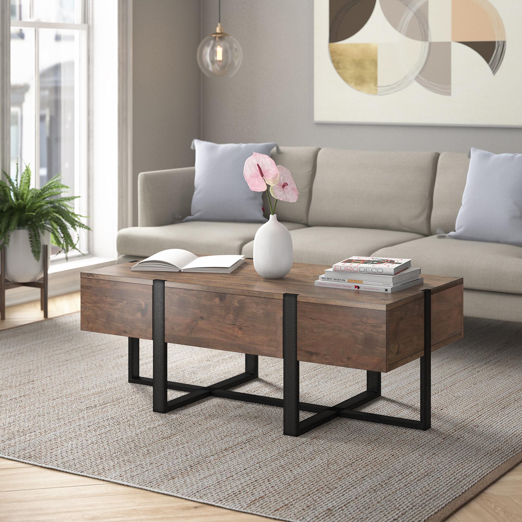 Foundstone Langdon Solid Wood Cross Legs Coffee Table Reviews Wayfair [ 2000 x 2000 Pixel ]