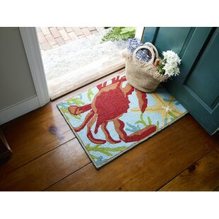 Sealegs Hand-Hooked Red/Blue Area Rug By CompanyC