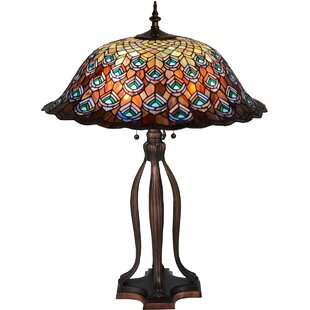 Tiffany Peacock Feather 30 Table Lamp