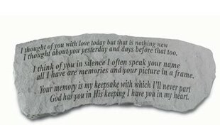 Kay Berry, Inc I Thought of You with Love Stone Garden Bench