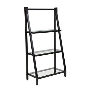 Poyner Glass Ladder Bookcase by Ebern Designs Best Choices
