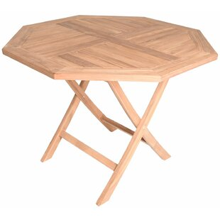 Cosmo Octagonal Folding Teak Dining Table by August Grove Discount