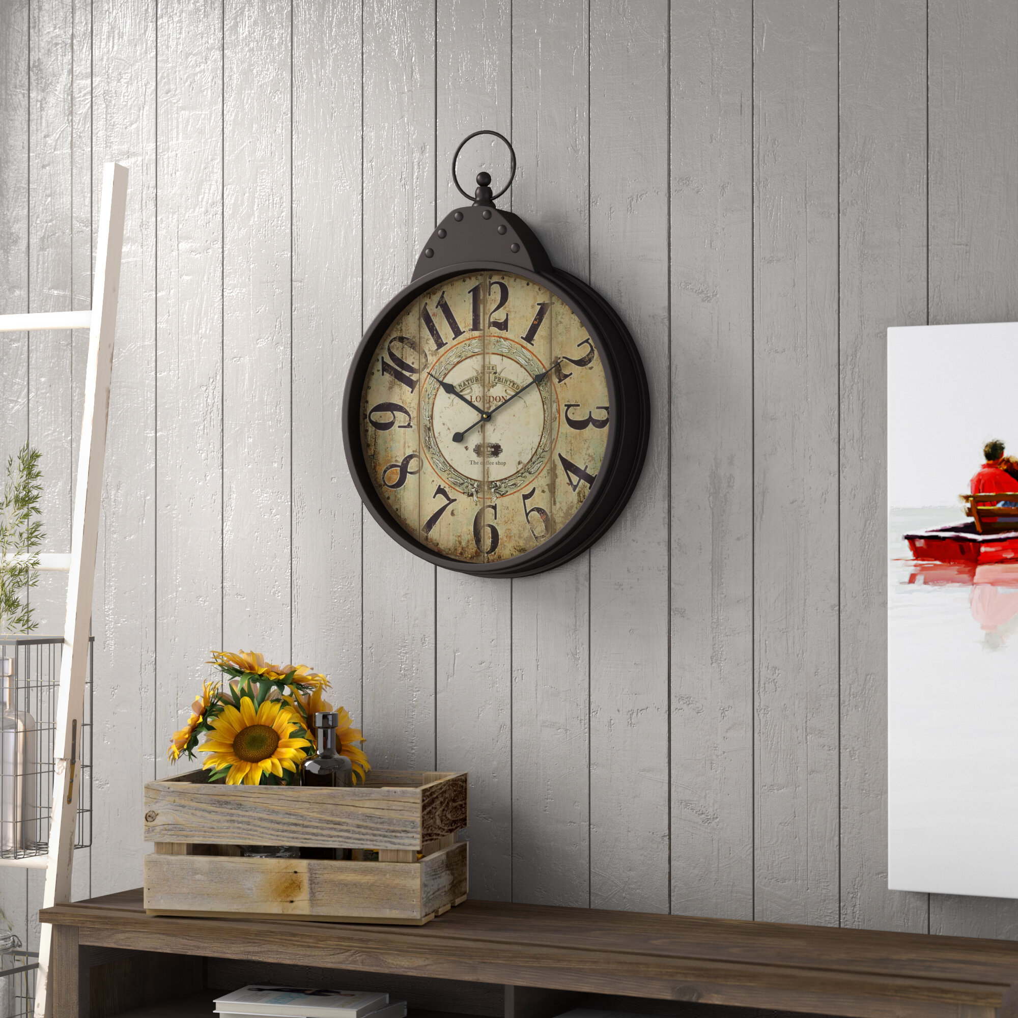 Trent Austin Design Wilksboro Fascinating Styled Berlin Metal Wall Clock Reviews Wayfair