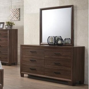 Foundry Select Alisa 6 Drawer Double Dresser with Mirror