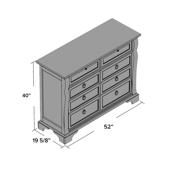 Kelly Clarkson Home Metronome 6 Drawer Double Dresser Reviews Wayfair