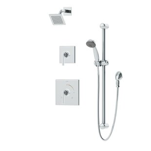 Symmons Duro 2-Handle Thermostatic Complete Shower System with Square Showerhead and Lever Handle