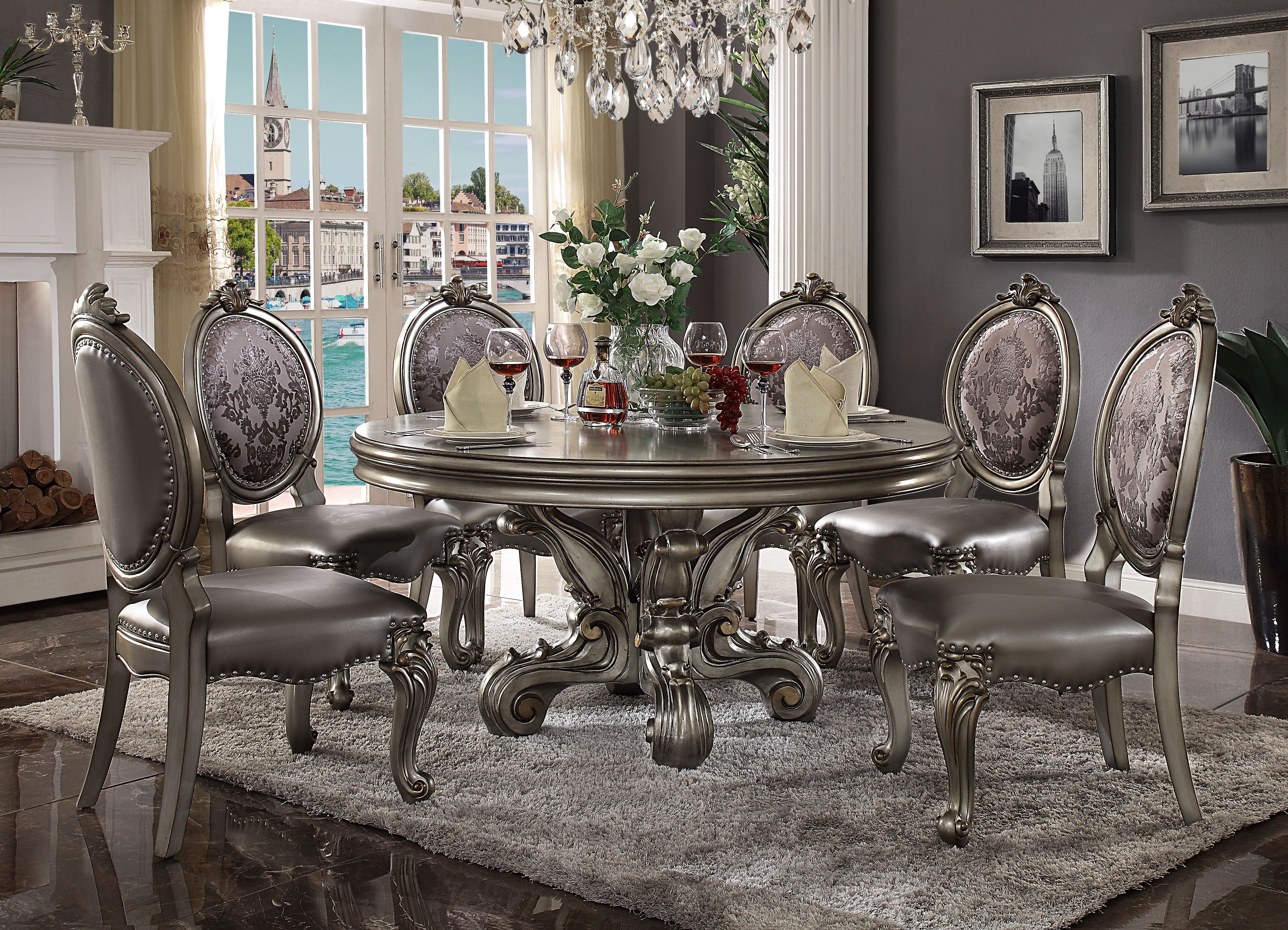 Andrewhomestudio Medley Round Dining Table With 6 Chairs