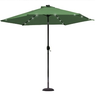 Rahate Solar LED Outdoor 10' Market Umbrella