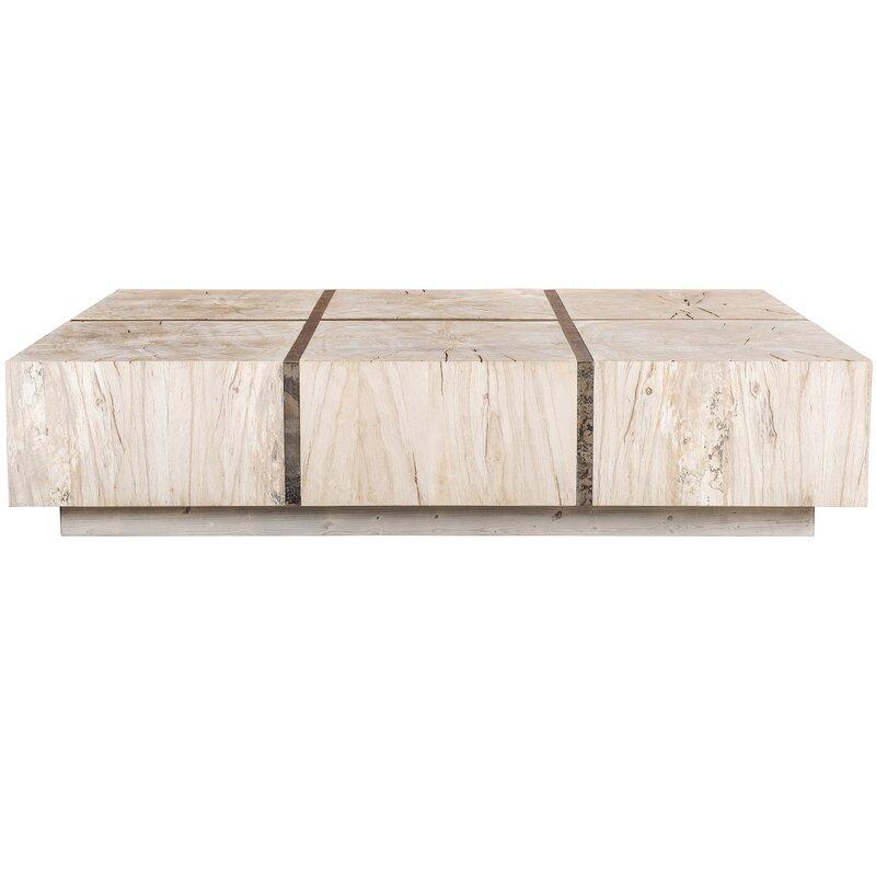 Taracea Tacto Solid Wood Block Coffee Table Perigold