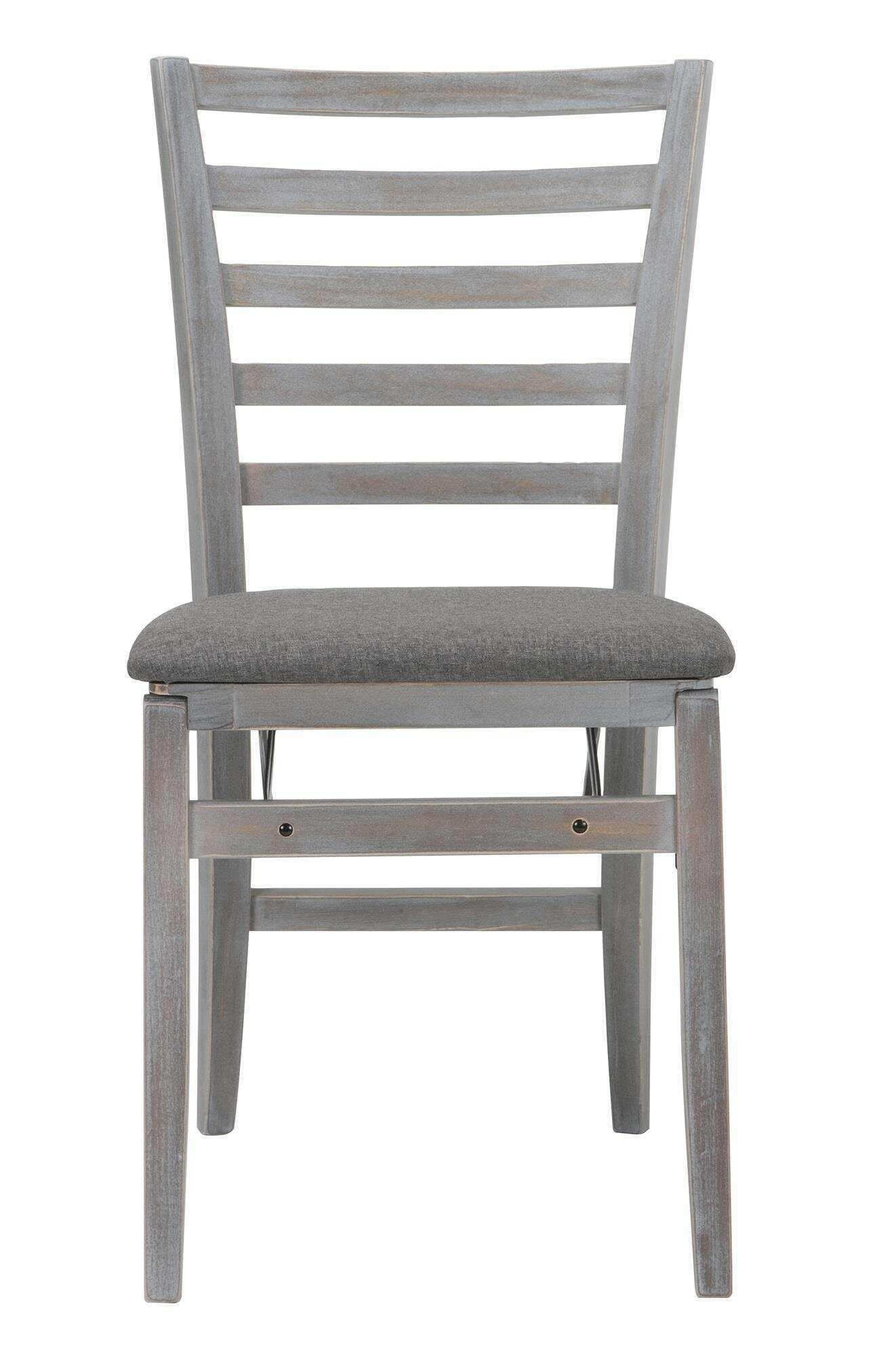 Cosco Home and fice Contoured Back Wood Padded Folding Chair