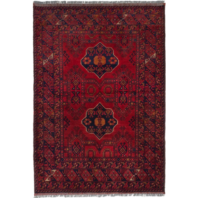 Bloomsbury Market One Of A Kind Pilger Hand Knotted 2010s Jamshidpour Red Green 3 5 X 4 11 Wool Area Rug Wayfair