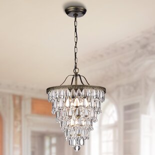 House of Hampton Totnes 4-Light Crystal Chandelier