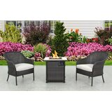 Enprise Fire Pit 3 Piece Bistro Set