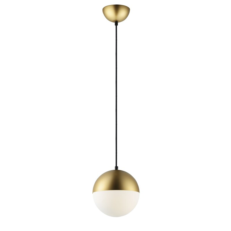 Allmodern Leduc 1 Light Single Globe Pendant Reviews Wayfair