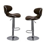 Kincheloe Modern Adjustable Swivel Bar Stool (Set of 2) by Orren Ellis