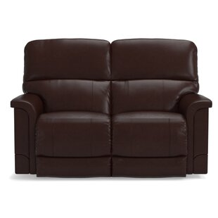 Shop Oscar Power Leather Reclining Loveseat by La-Z-Boy