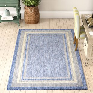 Delmont Blue Indoor/Outdoor Area Rug