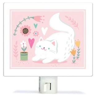 Oopsy Daisy Non-Personalized Playful Kitten Canvas Night Light