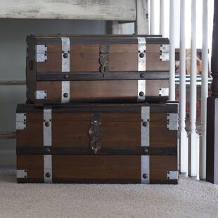 Bungalow Rose Hathaway Steel Band Trunk