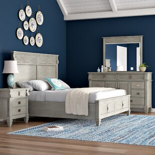 Vasilikos Solid Wood Construction Platform 4 Piece Bedroom Set by Beachcrest Home