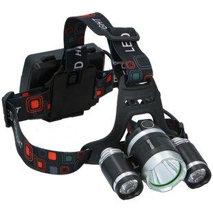 Chongris Headlight With 3 Leds Battery 9 X 8 Cm Black 3-Piece Image