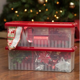 Savings Ribbon Storage Plastic Box (Set of 3) By IRIS USA, Inc.