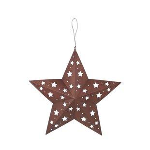 Clic Tin Star With Cutouts Wall Décor