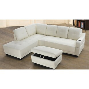 Leelou Right Hand Facing Sectional with Ottoman