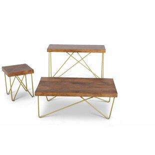 Mercury Row Kunze 3 Piece Coffee Table Set