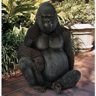 Design Toscano Western Lowland Gorilla Giant Great Ape Statue