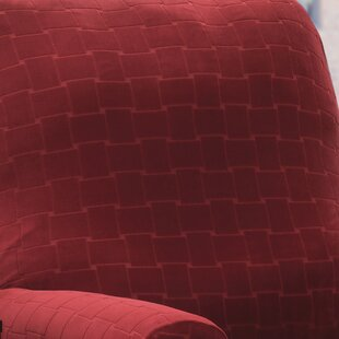 Solid Box Cushion Recliner Slipcover