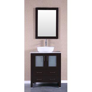 Affordable Price Lovette 30 Single Bathroom Vanity Set with Mirror ByBreakwater Bay