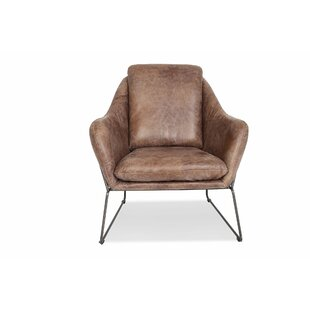 17 Stories Drayton Leather Lounge Chair