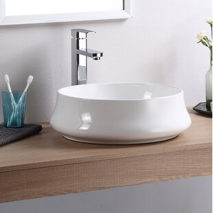 Fine Fixtures Vitreous China Circular Vessel Bathroom Sink