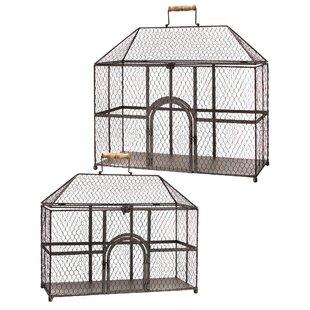 Regency International Chicken Wire 2 Piece Birdhouse Set