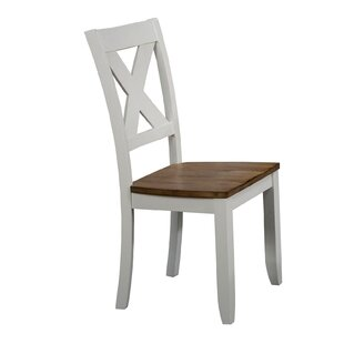 Tibbetts X Back Solid Wood Dining Chair (Set of 2) August Grove