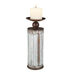 Corrugated Metal Candlestick